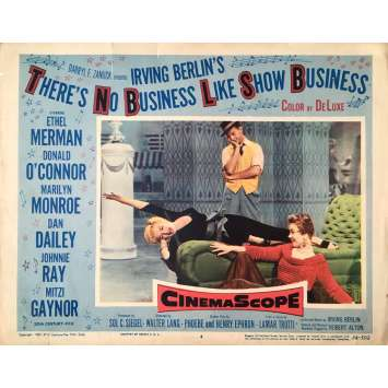 THERE IS NO BUSINESS LIKE SHOW BUSINESS Lobby Card tears - 11x14 in. - 1954 - Walter Lang, Marilyn Monroe