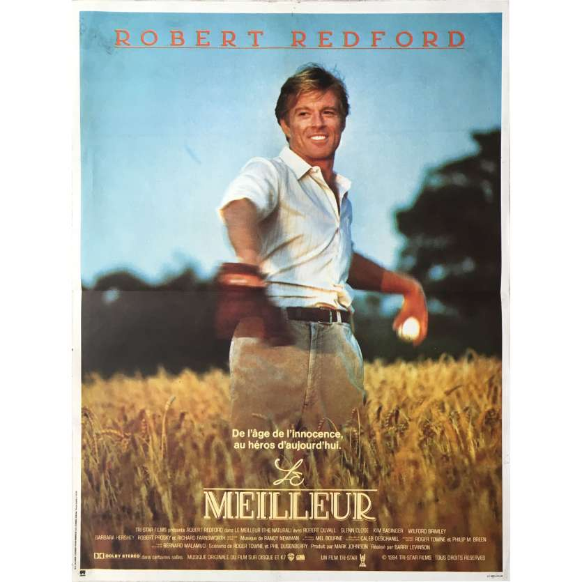 THE NATURAL Movie Poster 15x21 in. French - 1984 - Barry Levinson, Robert Redford