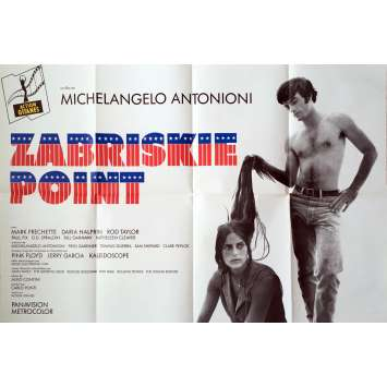 ZABRISKIE POINT Movie Poster - 32x47 in. - R1970 - Michelangelo Antonioni, Mark Frechette
