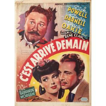 IT HAPPENED TOMORROW Movie Poster - 14x21 in. - 1944 - René Clair, Dick Powell