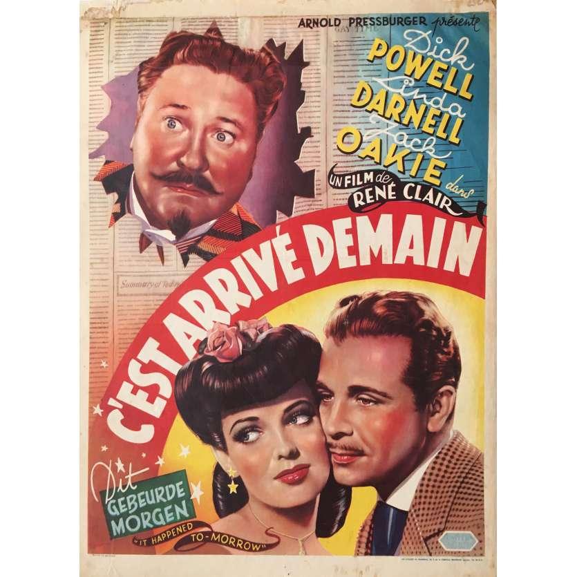C'EST ARRIVE DEMAIN Affiche de film - 35x55 cm. - 1944 - Dick Powell, René Clair