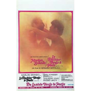 LE DERNIER TANGO A PARIS Affiche de film - 35x55 cm. - R1970 - Marlon Brando, Bernardo Bertolucci