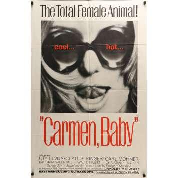 CARMEN, BABY Movie Poster - 29x41 in. - 1967 - Radley Metzger, Uta Levka