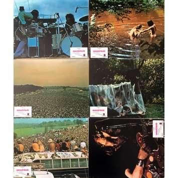 WOODSTOCK Photos de film x6 - 21x30 cm. - 1970 - Jimi Hendrix, Michael Wadleigh
