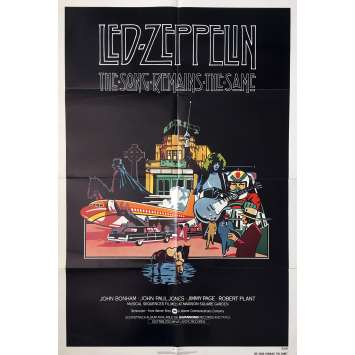 THE SONG REMAINS THE SAME Movie Poster - 29x41 in. - 1976 - Led Zeppelin, Robert Plant, Jimmy Page