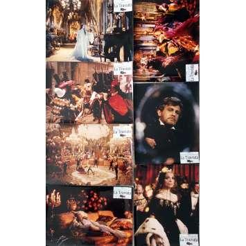 LA TRAVIATA Photos de film x6, Prestige - 30x40 cm. - 1982 - Placido Domingo, Franco Zeffirelli