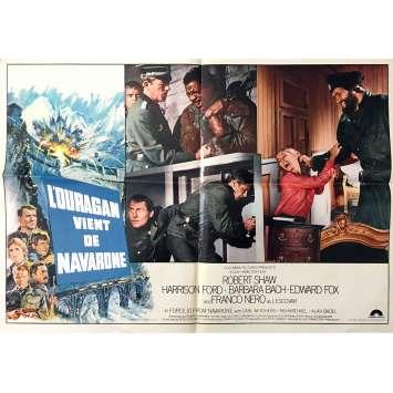 L'OURAGAN VIENT DE NAVARONE Photobusta x3 - 60x80 cm. - 1978 - Harrison Ford, Guy Hamilton