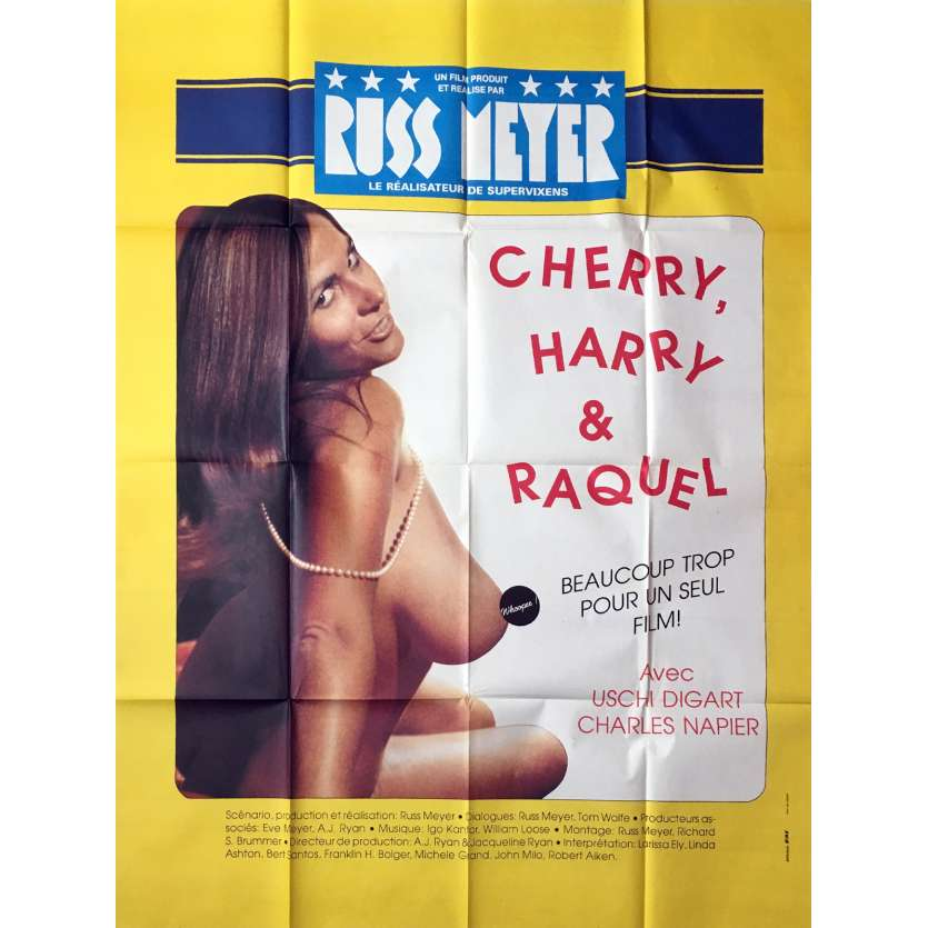 CHERRY, HARRY & RAQUEL Movie Poster Style B - 47x63 in. - 1970 - Russ Meyer, Charles Napier