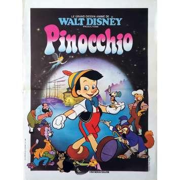 PINOCCHIO Affiche de film - 40x60 cm. - R1960 - Mel Blanc, Disney