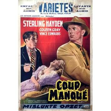 L'ULTIME RAZZIA Affiche de film - 35x55 cm. - 1956 - Sterling Hayden, Stanley Kubrick