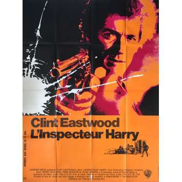 L'INSPECTEUR HARRY Affiche de film - 120x160 cm. - 1971 - Clint Eastwood, Don Siegel