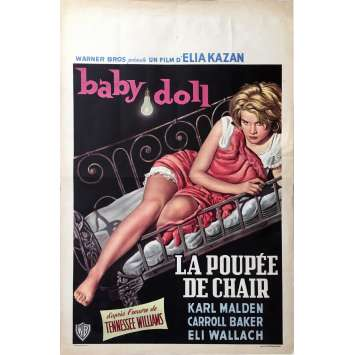 BABY DOLL Movie Poster - 14x21 in. - 1956 - Elia Kazan, Karl Malden