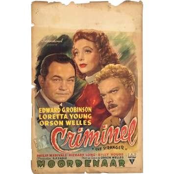 LE CRIMINEL Affiche de film - 35x55 cm. - 1946 - Loretta Young, Orson Welles