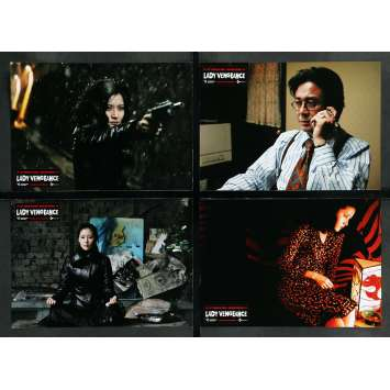 LADY VENGEANCE Lobby Cards x8 - 10x12 in. - 2005 - Chan-wook Park, Yeong-ae Lee
