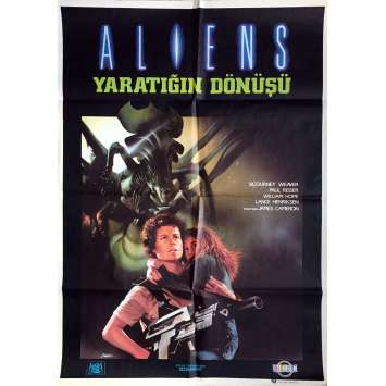 ALIENS Movie Poster - 27x39 in. - 1986 - James Cameron, Sigourney Weaver