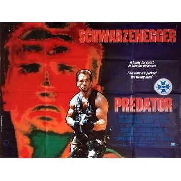 PREDATOR Affiche de film - 72x104 cm. - 1987 - Arnold Schwarzenegger, John McTiernan