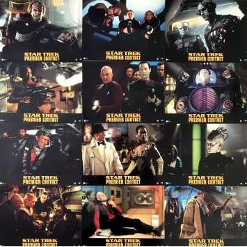 STAR TREK: FIRST CONTACT Lobby Cards - 7x9 in. - 1996 - Jonathan Frakes, Patrick Stewart