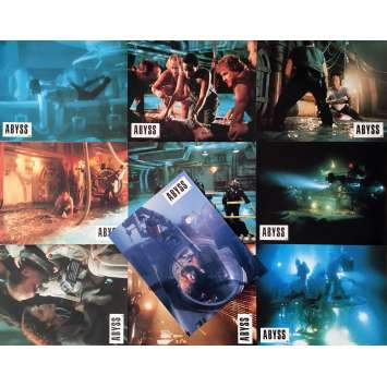 THE ABYSS Lobby Cards x10 9x12 in. French - 1989 - James Cameron, Ed Harris