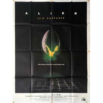 "ALIEN French one-panel movie poster '80, 47x63"" Ridley Scott"