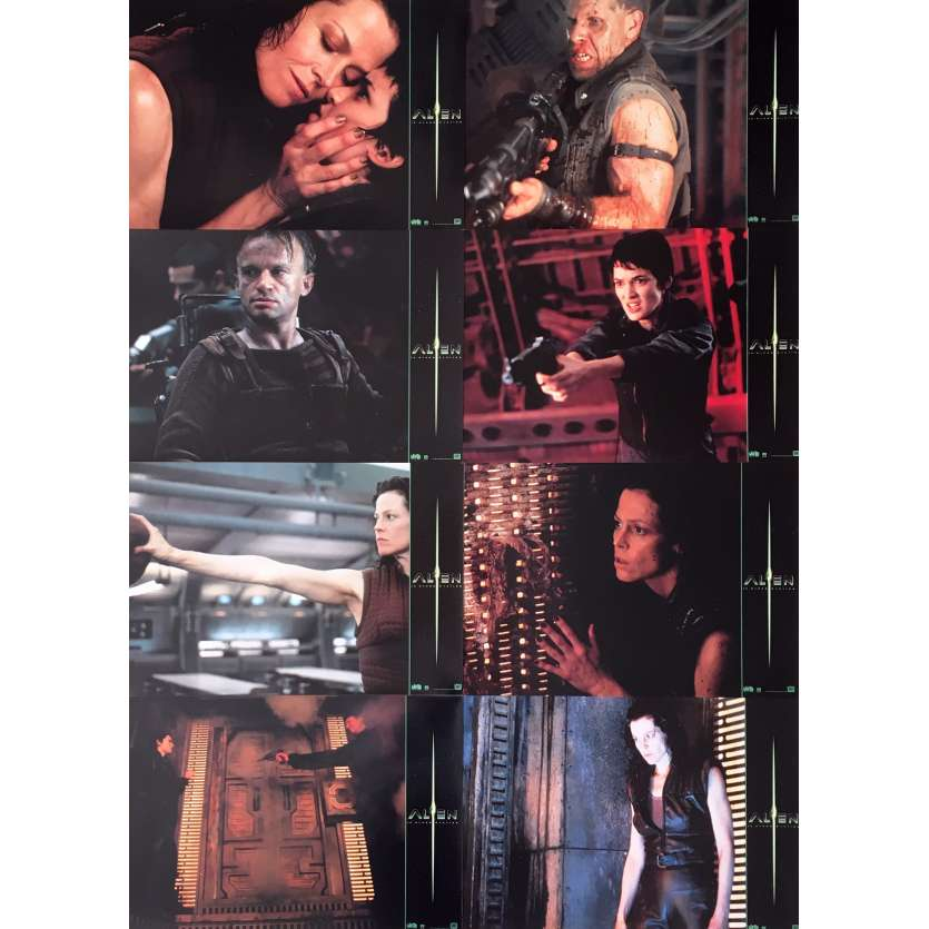 ALIEN LA RESURRECTION Photos de film x8 - 21x30 cm. - 1997 - Sigourney Weaver, Jean-Pierre Jeunet