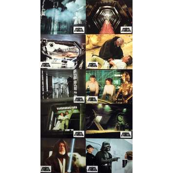 STAR WARS - A NEW HOPE Lobby Cards x9 - 9x12 in. - 1977 - George Lucas, Harrison Ford