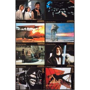 STAR WARS TRILOGY Lobby Cards x8 - 9x12 in. - 1997 - George Lucas, Harrison Ford, Carrie Fisher