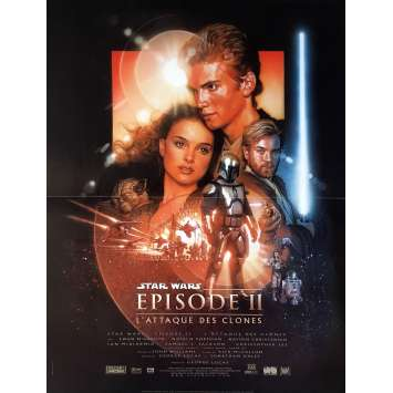 STAR WARS - ATTACK OF THE CLONES Movie Poster - 15x21 in. - 2002 - George Lucas, Natalie Portman