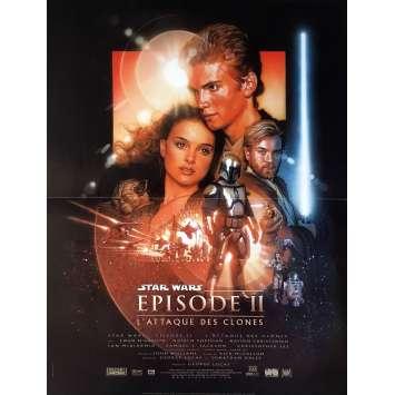 STAR WARS - L'ATTAQUE DES CLONES Affiche de film - 40x60 cm. - 2002 - Natalie Portman, George Lucas