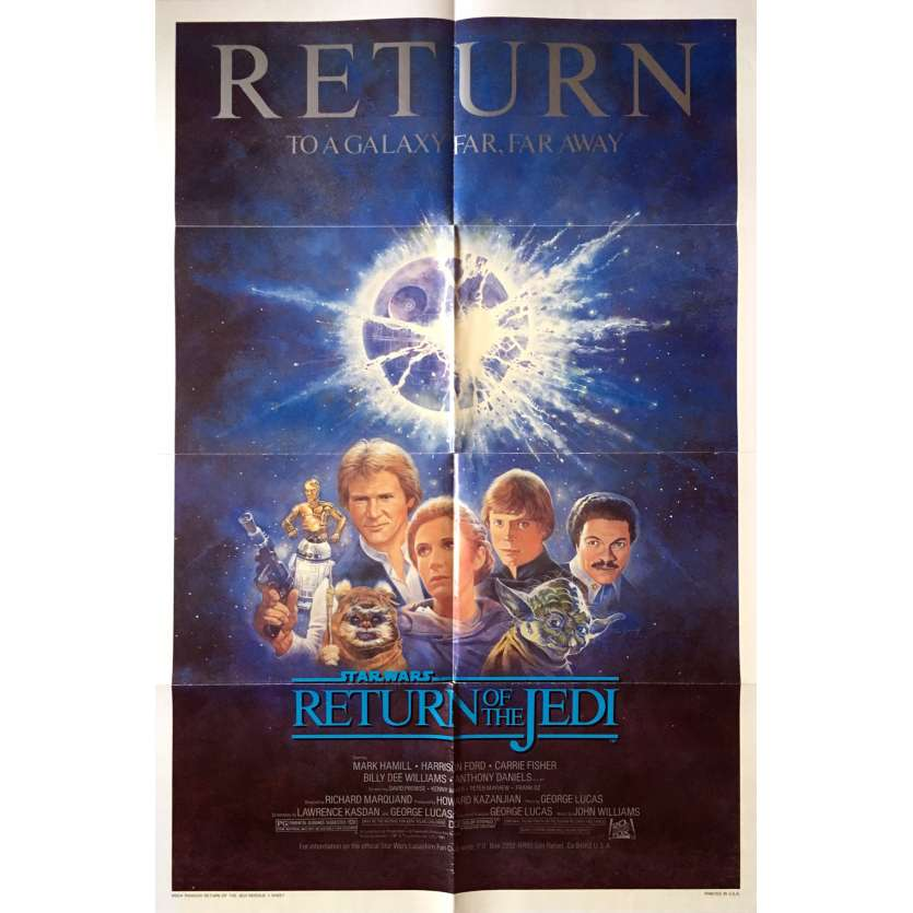 STAR WARS - RETURN OF THE JEDI US Movie Poster 29x41 - R1985 - George Lucas, Harrison Ford