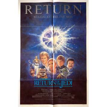 RETURN OF THE JEDI Movie Poster 1sh R85 George Lucas, Star Wars