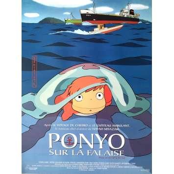 PONYO SUR LA FALAISE Affiche de film - 40x60 cm. - 2008 - Hayao Miyazaki, Studio Ghibli