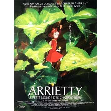 THE SECRET WORLD OF ARRIETY Movie Poster - 15x21 in. - 2010 - Studio Ghibli, Hayao Miyazaki