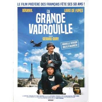 LA GRANDE VADROUILLE Movie Poster - 15x21 in. - R2010 - Gerard Oury, Bourvil, Louis de Funes