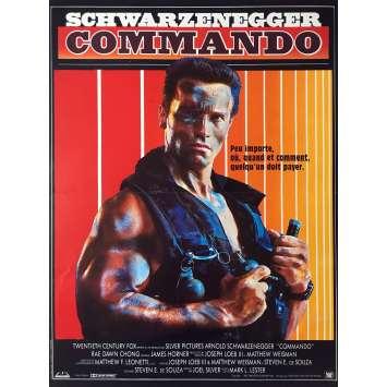 COMMANDO Movie Poster - 15x21 in. - 1985 - Mark Lester, Arnold Schwarzenegger