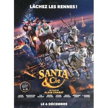 SANTA & CIE Movie Poster Def. - 15x21 in. - 2017 - Alain Chabat, Golshifteh Farahani