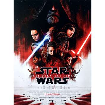 STAR WARS - THE LAST JEDI Movie Poster - 15x21 in. - 2017 - Rian Johnson, Mark Hamill