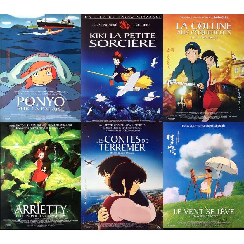 GHIBLI / MIYAZAKI Lot de 6 affiches de cinéma Originales N°2 40x60 cm
