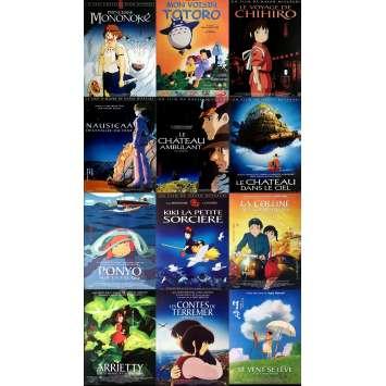 GHIBLI / MIYAZAKI Lot de 12 affiches de cinéma Originales 40x60 cm