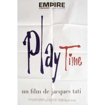 PLAYTIME French Movie Poster 23x32- R-1970 - Jacques Tati, Jacques Tati