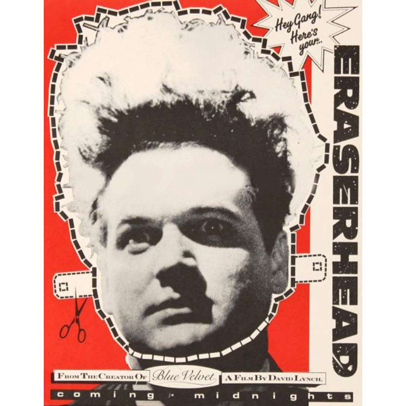ERASERHEAD Masque à découper R80 David Lynch, Rare Vintage Mask