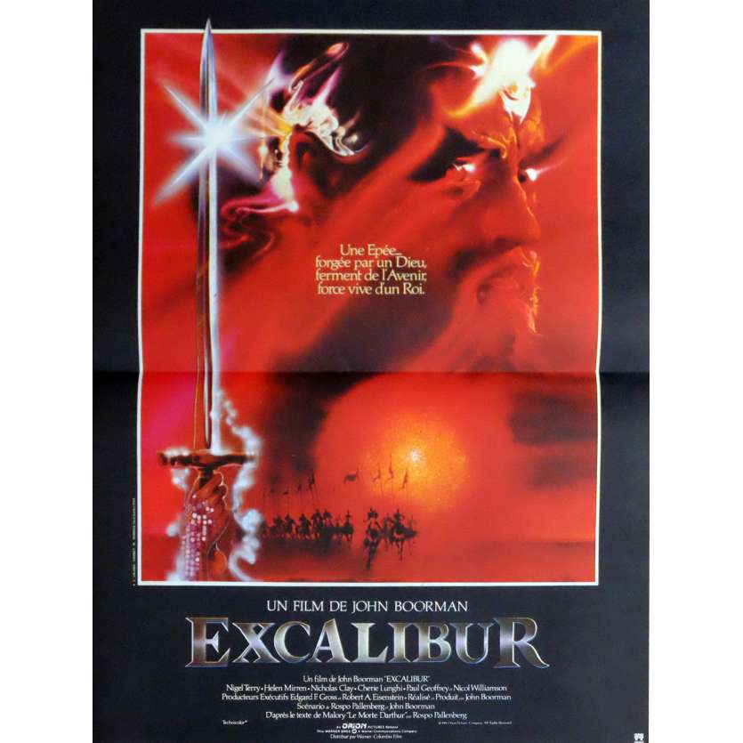 EXCALIBUR Affiche de film 40x60 - 1981 - Nigel Terry, John Boorman