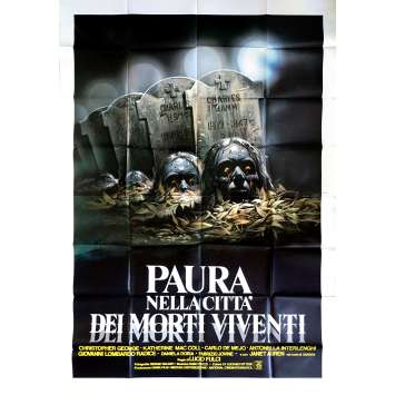 FRAYEURS Affiche de film - 140x200 cm. - 1980 - Catriona MacColl, Lucio Fulci