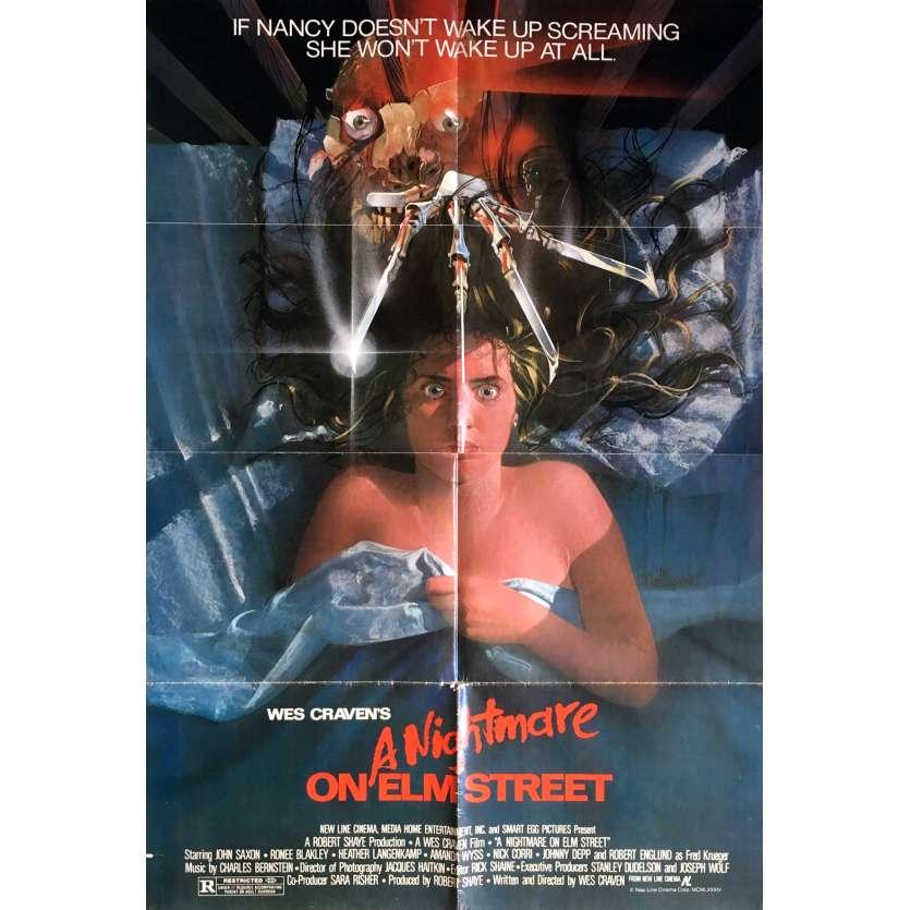 LES GRIFFES DE LA NUIT Affiche de film - 69x104 cm. - 1985 - Robert Englund, Wes Craven