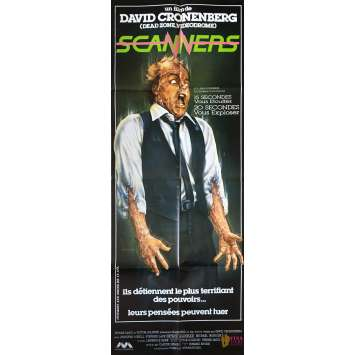 SCANNERS Movie Poster - 23x63 in. - 1981 - David Cronenberg, Patrick McGoohan