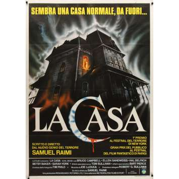 EVIL DEAD Italian 1p '84 Sam Raimi cult classic, completely different haunted house art!