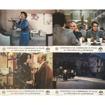 CONFESSION D'UN COMMISSAIRE DE POLICE Photos de film x5 - 21x30 cm. - 1971 - Franco Nero, Damiano Damiani