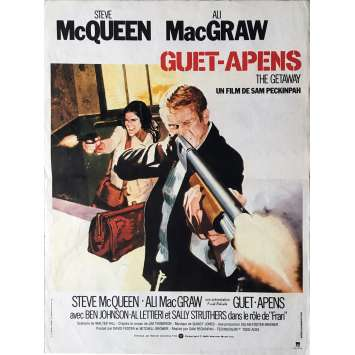 THE GETAWAY Movie Poster - 15x21 in. - 1972 - Sam Peckinpah, Steve McQueen