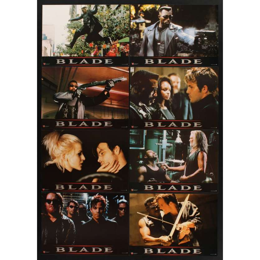 BLADE 8 French LCs '98 Wesley Snipes, Stephen Dorff, Kris Kristofferson, vampires!