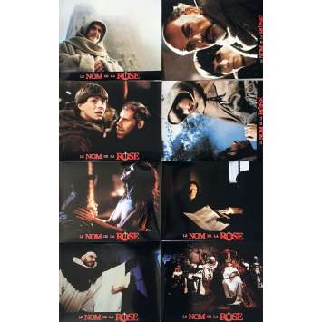 NAME OF THE ROSE Lobby Cards x14, Prestige - 9x12 in. - 1987 - Jean-Jacques Annaud, Sean Connery