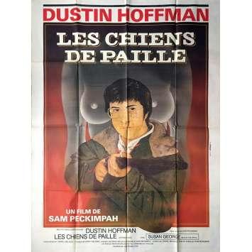 LES CHIENS DE PAILLE Affiche de film - 120x160 cm. - R1980 - Dustin Hoffman, Sam Peckinpah